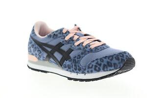 Onitsuka-Tiger-Alvarado-D7J7L-4690-Womens-Blue-Suede-Low-Top-Sneakers-Shoes