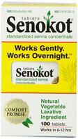 Senokot Natural Vegetable Laxative Ingredient, Tablets, 100 Count Each on sale