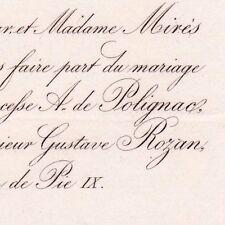 Jeanne Emilie Mirès Princesse De Polignac Paris 1865 Gustave Pierre Jean Rozan