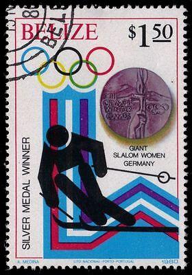 "sg572 - Winter Olympics ""women's Giant Slalom"" Aromatic Flavor pf88380 Belize 507"
