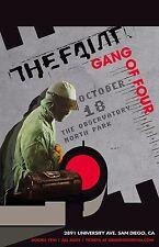 THE FAINT/GANG OF FOUR 2016 SAN DIEGO CONCERT TOUR POSTER-Indie Rock, Dance-punk
