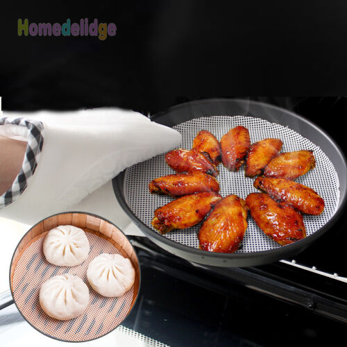 24cm Silicone Steamer Non-Stick Pad Round Dumplings Mat Home Cooking Mesh Tool