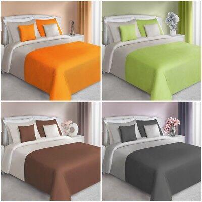 Bettwäschegarnituren Bettwäsche 155x200 200x220 Set Garnitur 3lg Kissenbezüge Zweifarbig Baumwolle