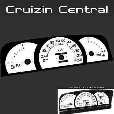 Plastic WHITE DIAL Holden Commodore Level 1 VN VP VR VS gauge dash tacho speedo