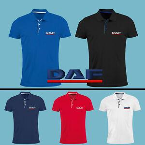 DAF-Polo-T-Shirt-Camion-Logo-Brode-Homme-Vetements-Accessoires-Cadeau-Chemise
