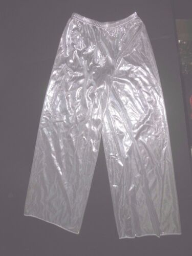 NWT FOIL Wide Leg Pants Praise Liturgical Ladies sizes Gold or Silver Metallic