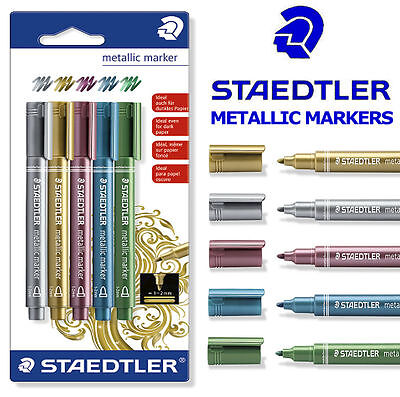 8323-s Bk5 Dutiful Staedtler Metallic Marker Pens Set Of 5 Pens