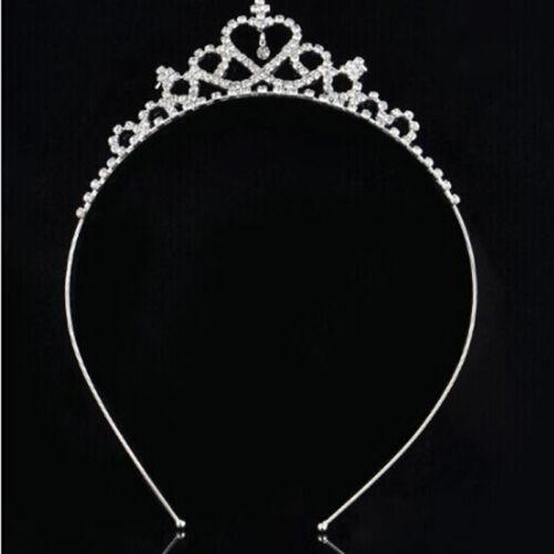 Crown Girl Kids Rhinestone Crystal Tiara Bridal Headband Kids Accessories S