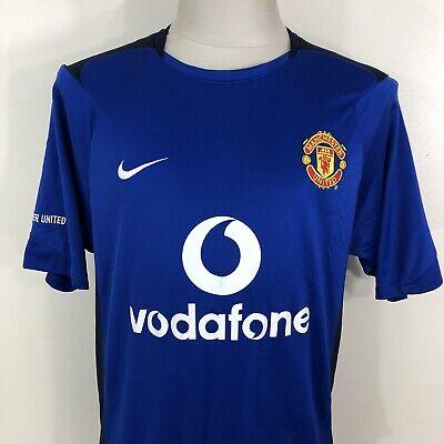 Nike Manchester University Blue Black S S Jersey Kit Men S Medium Premier Fifa Ebay