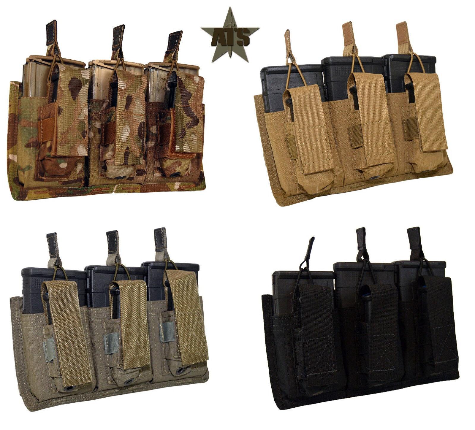 ATS Tactical Triple 762 Triple Pistol Shingle-Multicam-Kryptek-Coyote-RG-BK-Wolf