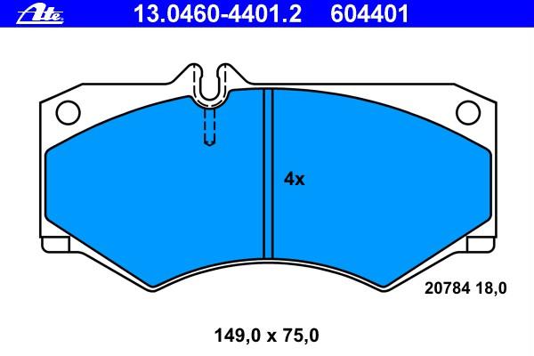 13.0460-7274.2 Bremsbelagsatz Bremsklotz Bremsklötze Bremse Bremsen NEU ATE