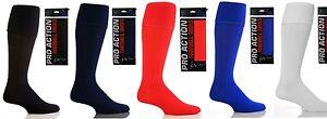 Hombre-Futbol-Rugby-Hockey-Calcetines-Hasta-Rodillas-Rojo-Blanco-Negro-Azul-Real