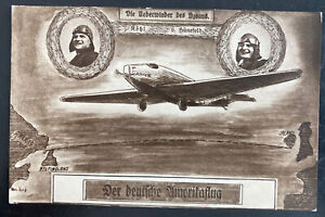 1928 New Ulm Germany Picture Postcard Airmail Cover To Freiburg American Flight