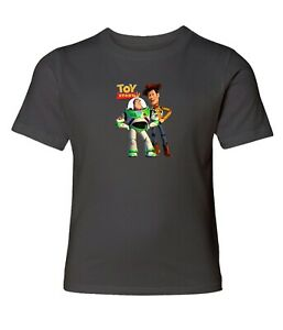 Disney-Toy-Story-Buzz-and-Woody-Men-Women-Crew-Neck-Unisex-Short-Sleeve-T-Shirt