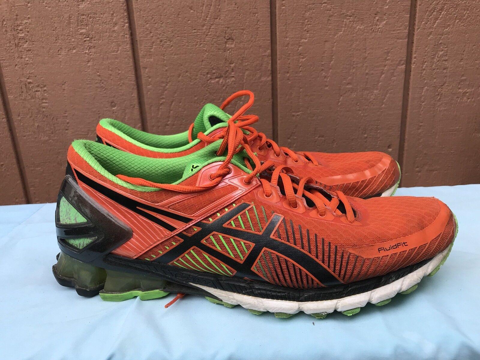 Asic uomini 'gel kinsei 6 scarpa da corsa, verde fiesta / nero / verde corsa, gecko 13 milioni di noi) 656373