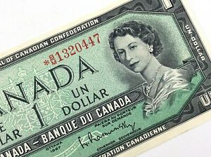 1967-Canada-1-One-Dollar-Replacement-BM-Prefix-Uncirculated-Banknote-M467