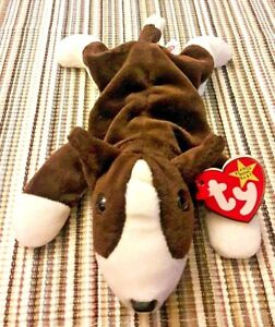 9aa24958064 Original Ty Bruno the Dog Beanie Babies 1997 Baby Retired Puppy Tags ...