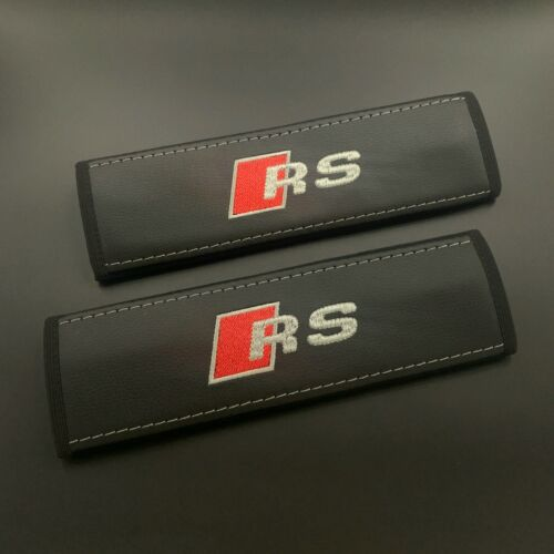 Audi RS Black covers for 5-point pull-down harness seat belts 2PCS