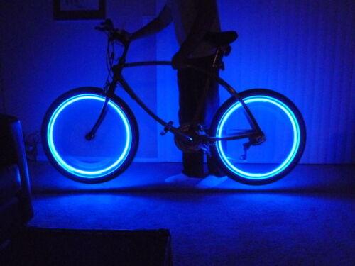 2 piezas LED bicicleta auto Motocicleta Rueda Neumático Válvula de luz dos Tapa Flash Rojo Azul UK