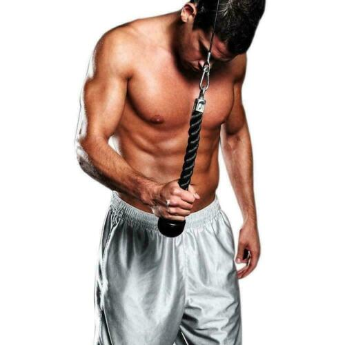 Body Building Pull Down Pull Rope Tricep Rope Crunches Abdominal U3H5