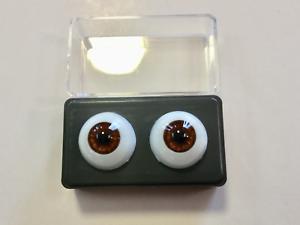 12mm Hazel Glastic Realistic Acrylic Doll Eyes