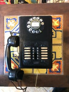 ANTIQUE-VINTAGE-ROTARY-DIAL-10-LINE-INTERCOM-TELEPHONE