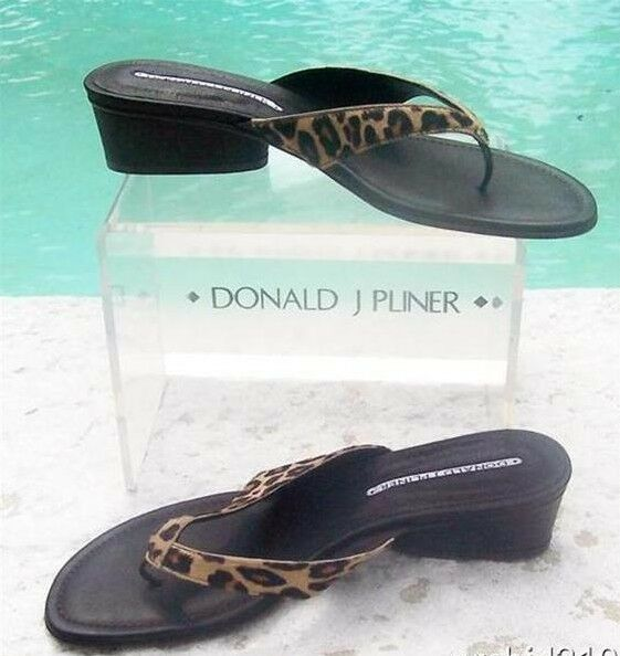 Donald Pliner Couture Congo Hair Calf Leather Leather Leather shoes Sandal New Thong Sandal  225 8de784