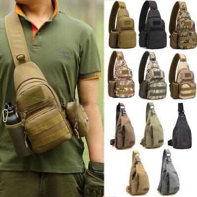 Men/'s Canvas Outdoor Tactical Military Sling Chest Bag Messenger Shoulder Bag CA