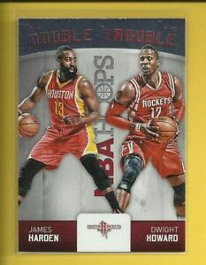 02dfe40e95e James Harden 🏀 2015-16 NBA Hoops Double Trouble Card   9 🚀 Houston ...