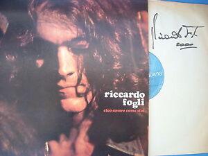 Lp Riccardo Fogli Ciao Amore Come Stai Gatefold Autografato Come