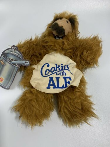 "Vintage 1988 Burger King Toy ALF Alien Plush /""COOKIN/' with ALF/"" Hand Puppet"