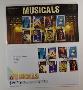 2011-ROYAL-MAIL-PRESENTATION-FOLDER-BRITISH-THEATER-MUSICALS-amp-FDC-LOT-400
