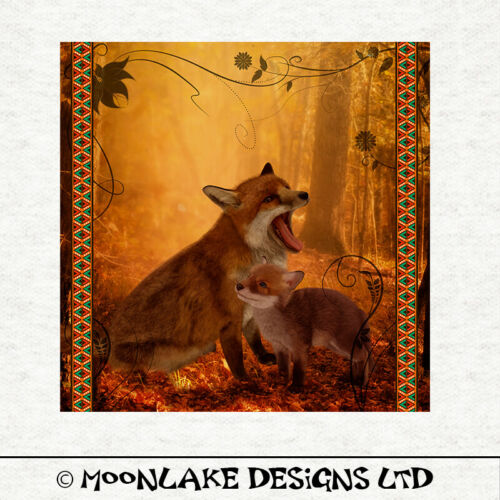 Fabric Cushion Upholstery Craft PanelSewing Woodland Fox Art Fabric