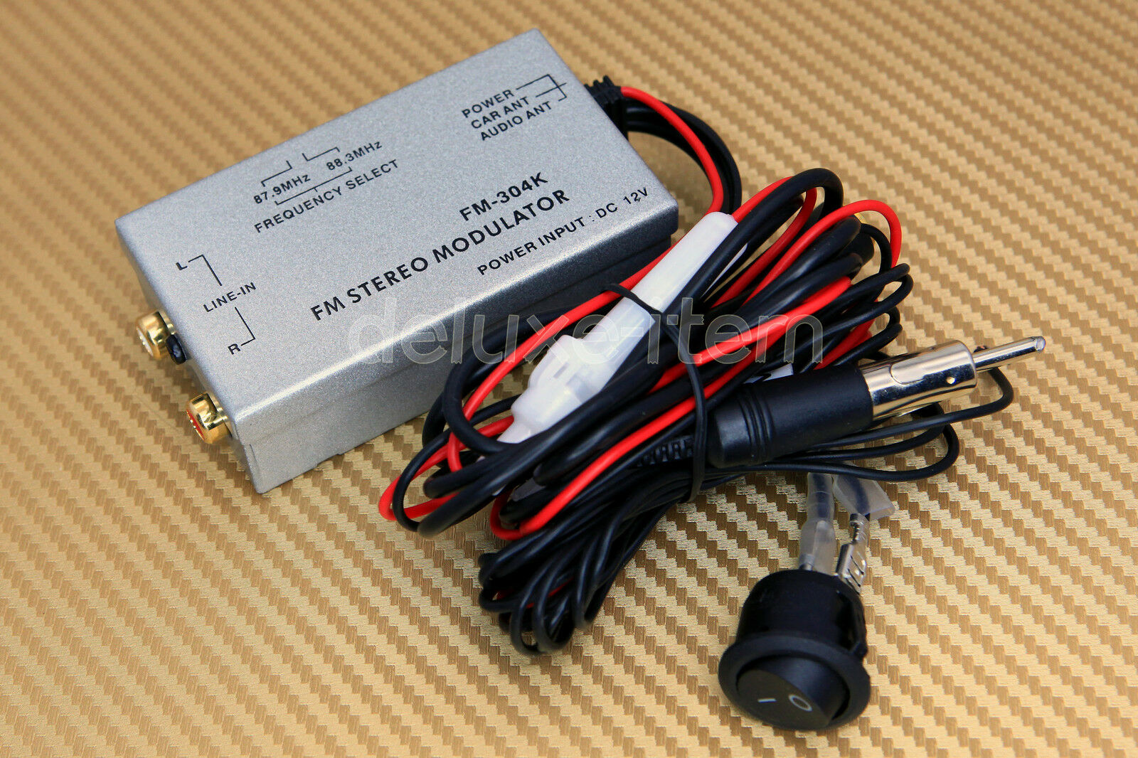 Car Radio Stereo RCA AUX Input Audio Adapter FM Modulator Antenna Port  Music Mp3