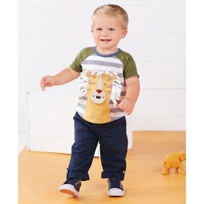 Mud Pie E8 Go Wild Baby Boy Lion T-Shirt /& Pant Set 1012227 Choose Size