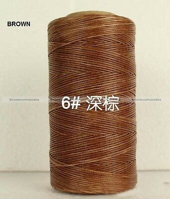 250 Meter 150D Waxed Wax Thread Cord Sewing Craft for Leather Stitching HOME101