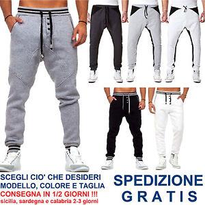 Pantaloni-Tuta-da-Uomo-a-Cavallo-Basso-alla-Moda-Fashion-per-Casual-Sport-Corsa