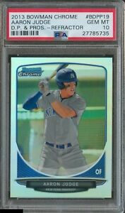 PSA-10-AARON-JUDGE-2013-Bowman-Chrome-REFRACTOR-Yankees-Rookie-Card-RC-GEM-MINT