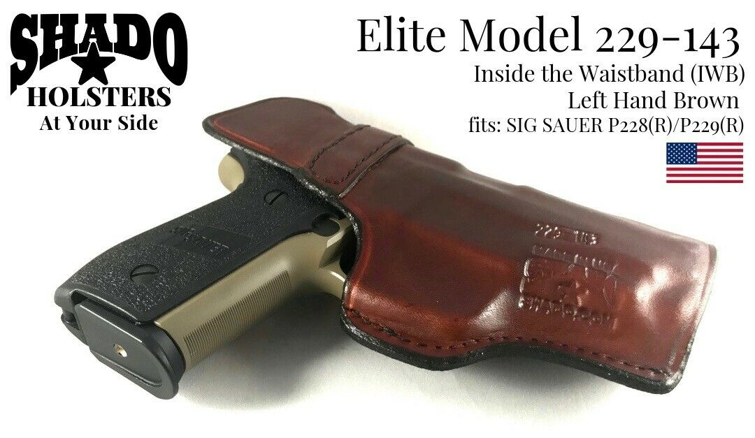 SHADO Leather Holster USA Elite Model SP1012-143 Right Hand Brown IWB Ruger SP