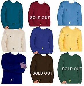 Mens-Westwood-by-Chaps-Logo-Sweater-100-Cotton-Crewneck-amp-V-Neck-NWT