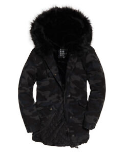 Parka Xs Brand Rookie New Jacket Navy Womens Hawk Superdry Camo Details About VpzMUGqS
