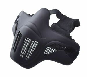 Ghost-Recon-Style-Steel-Mesh-Half-Face-Mask-for-Airsoft-Black