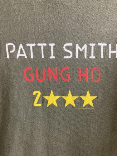 VTG PATTI SMITH CONCERT PROMO T SHIRT 2000 GUNG HO