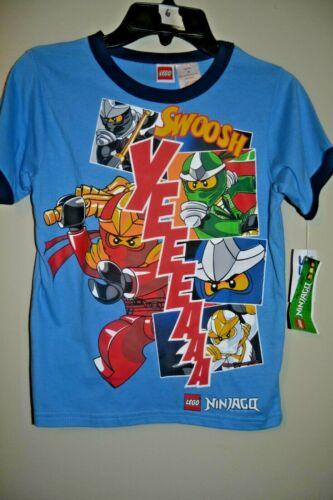 LEGO NINJAGO NINJAS-BOYS SIZE 6-YEEEAAA!-LICENSED SHORT SLEEVE-NWT
