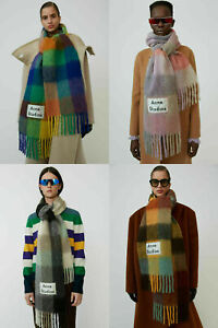 5 Color Acne Studios Scarf Scarves Thick Rainbow color matching Shawl 220*36cm