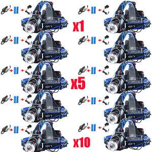 Tactical-Headlight-Cree-XM-L-20000LM-Rechargeable-T6-LED-Headlamp-Batt-Charger-J