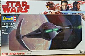 Star Wars Sith Infiltrator Guerre Stellari - Revell Kit 1:257 - 03612 Rendre Les Choses Pratiques Pour Les Clients
