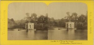 Chateau-de-Fontainebleau-France-Photo-Stereo-BK-Paris-Vintage-Albumine-ca-1870