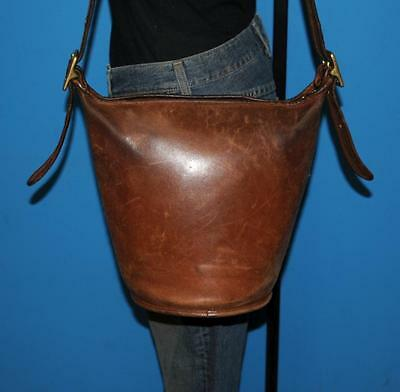 f71b6c6c79 Vtg 1970 COACH Distressed Brown Leather HELEN S LEGACY Bucket Tote Purse Bag  NYC