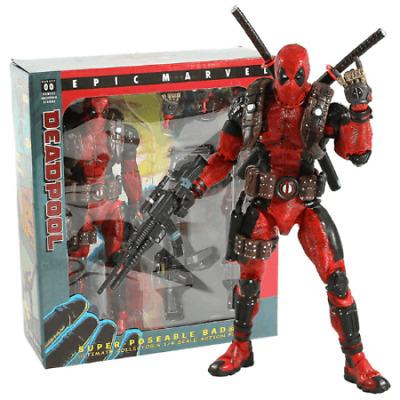 "Deadpool Ultimate Collectors Epic Marvel Super Poseable 8/"" Action Figure 1:10"
